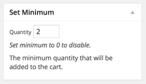 Product Minimums